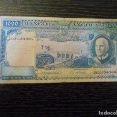 Billetes extranjeros: ANGOLA-BILLETE 1000 ESCUDOS-10-6-1962-PICK 96-MBC-. Lote 194987818