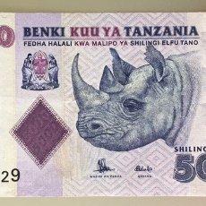 Billetes extranjeros: TANZANIA. 5000 SHILLINGS. Lote 194988225