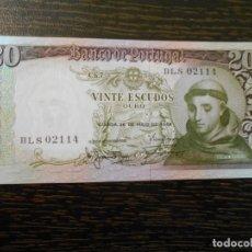 Billetes extranjeros: PORTUGAL-BILLETE 20 ESCUDOS-26-5-1964-PICK 167B-EBC. Lote 194988612