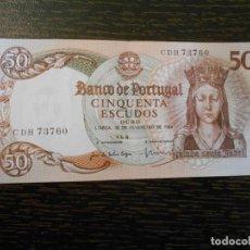 Billetes extranjeros: PORTUGAL-BILLETE 50 ESCUDOS-26-2-1964-PICK 168-EBC. Lote 194993037