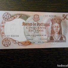 Billetes extranjeros: PORTUGAL-BILLETE 50 ESCUDOS-26-2-1964-PICK 168-EBC. Lote 194993068