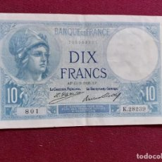 Billetes extranjeros: FRANCIA. 10 FRANCOS 1926 EBC+. Lote 194993465