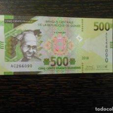 Billetes extranjeros: GUINEA (FRANCESA)-BILLETE 500 FRANCOS-2018-SC. Lote 194996698