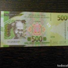Billets internationaux: GUINEA (FRANCESA)-BILLETE 500 FRANCOS-2018-SC. Lote 194996762
