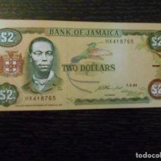 Billetes extranjeros: JAMAICA-BILLETE 2 DÓLARES-1-2-1993-PICK 69E-SC. Lote 194997078