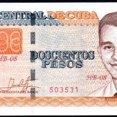 Billetes extranjeros: CUBA 200 PESOS 2018 - SIN CIRCULAR. Lote 195001405