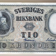 Billetes extranjeros: SUECIA. 10 CORONAS 1962. Lote 195013380