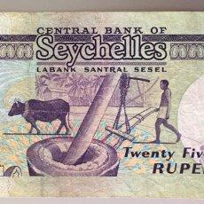Billetes extranjeros: SEYCHELLES 25 RUPIAS 1989. Lote 195013535