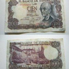 Billetes extranjeros: BILLETE 100 PESETAS 1970 MANUEL DE FALLA CIRCULADO. Lote 195047280
