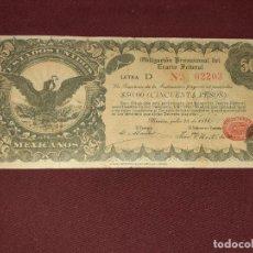 Billetes extranjeros: 50 PESOS 1914 MEXICO. Lote 195060261