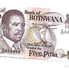 Billetes extranjeros: BOTSWANA 5 PULA 1992 PICK 11A SIN CIRCULAR. Lote 195081302