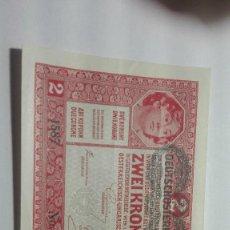 Billetes extranjeros: 47-BUEN BILLETE DE DOS CORONAS DEL AÑO 1919 DE AUSTRIA. Lote 195111048