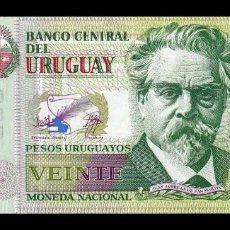 Notas Internacionais: URUGUAY 20 PESOS URUGUAYOS 2018 PICK 93 NUEVO SERIE H SC UNC. Lote 222443047