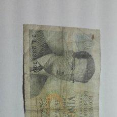Billetes extranjeros: 56-BILLETE DE 20 FRANCOS DEL AÑO 1964 DE BELGICA. Lote 195117937