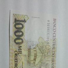 Billetes extranjeros: 81-BILLETE PLANCHA DE 1000 CRUZEIROS DEL AÑO 1990 DE BRASIL. Lote 195141557