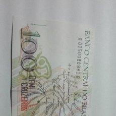 Billetes extranjeros: 82-BILLETE PLANCHA DE CIEN CRUZEIROS DEL AÑO 1990 DE BRASIL. Lote 195141853