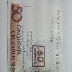 Billetes extranjeros: 83-BILLETE PLANCHA DE 50 CRUZADOS DEL AÑO 1991 DE BRASIL. Lote 195142335