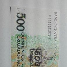 Billetes extranjeros: 84-BILLETE PLANCHA DE 500 CRUZADOS DEL AÑO 1990 DE BRASIL. Lote 195143435
