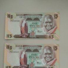 Billetes extranjeros: BILLETES DE ZAMBIA. Lote 195169868