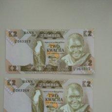 Billetes extranjeros: BILLETES DE ZAMBIA. Lote 195171385