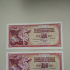 Billetes extranjeros: BILLETES DE YUGOSLAVIA. Lote 195185442