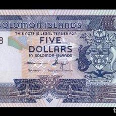 Billetes extranjeros: ISLAS SALOMON SOLOMON 5 DOLLARS 2012 PICK 26 NUEVO SC UNC. Lote 221951877