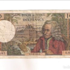 Billetes extranjeros: BILLETE DE 10 FRANCOS DE FRANCIA DE 1970. RC+ WORLD PAPER MONEY-147C (BE52). Lote 195224296