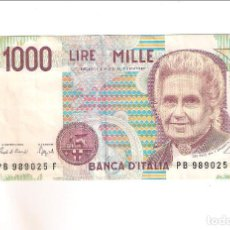 Billetes extranjeros: BILLETE DE 1.000 LIRA DE ITALIA DE 1990. MBC+ WORLD PAPER MONEY-114 (BE199). Lote 195227641