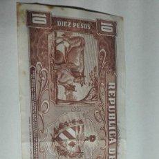 Billetes extranjeros: 157-BILLETE DIEZ PESOS DEL AÑO 1960 DE CUBA, CIRCULADO. Lote 195228481