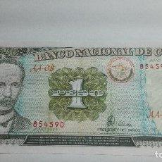Billetes extranjeros: 159-BILLETE DE UN PESO DEL AÑO 1995 DE CUBA, ESTADO PLANCHA. Lote 195229548