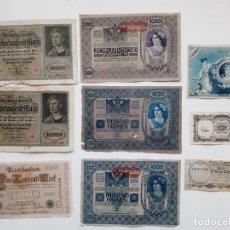 Billetes extranjeros: LOTE 9 BILLETES DE EUROPA. Lote 195229980