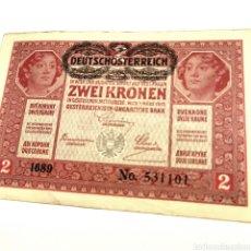 Billetes extranjeros: AUSTRIA 2 KRONEN 1917. Lote 195239230