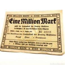 Billetes extranjeros: ALEMANIA, WESTFALIA, 1 MILLÓN DE MARK 1923. Lote 195239571