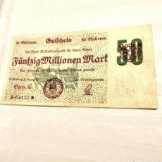 Billetes extranjeros: ALEMANIA, MOENCHEN GLADBACH, 50 MILLONES DE MARK 1923. Lote 195240001