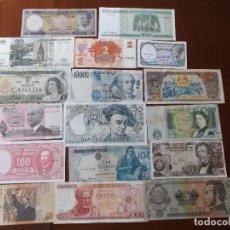 Billetes extranjeros: CONJUNTO DE BILLETES DE DIVERSOS PAISES MUNDIALES ALGUNOS SIN CIRCULAR. Lote 195243211