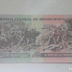 Billetes extranjeros: 195-BILLETE DE CINCO LEMPIRA AÑO 2010 DE HONDURAS, ESTADO PLANCHA. Lote 195265437