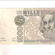 Billetes extranjeros: BILLETE DE 1000 LIRA DE ITALIA DE 1982. EBC. WORLD PAPER MONEY-109B (BE453). Lote 195279551