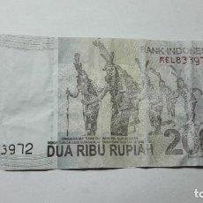 Billetes extranjeros: 219-BILLETE 2000 RUPIAS AÑO 2011 INDONESIA, ESTADO BUENO. Lote 195288588