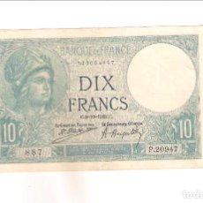 Billetes extranjeros: BILLETE DE 10 FRANCOS DE FRANCIA DE 1925. EBC. WORLD PAPER MONEY-73C (BE594). Lote 195288868