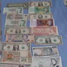 Billetes extranjeros: BILLETES DE VARIOS PAÍSES. Lote 195297642
