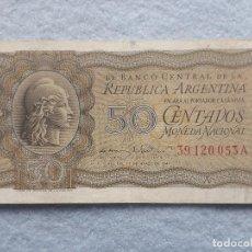 Billetes extranjeros: ARGENTINA. 50 CENTAVOS. 27 DE MARZO DE 1947.. Lote 195300067