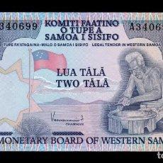 Billetes extranjeros: SAMOA 2 TALA 1980 PICK 20 SC UNC. Lote 195306453