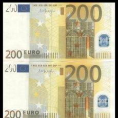 Billetes extranjeros: ALEMANIA, PAREJA 200 EUROS 2002 MARIO DRAGHI E00285 S/C. Lote 195307966