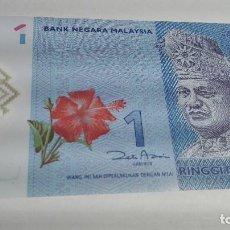 Billetes extranjeros: 256-BILLETE 1 RINGGIT AÑO 2012 DE MALASYA, ESTADO PLANCHA. Lote 195331565