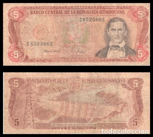 REPUBLICA DOMINICANA 5 PESOS ORO 1988 PIK 118 BC (Numismática - Notafilia - Billetes Extranjeros)
