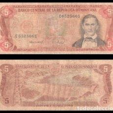 Billetes extranjeros: REPUBLICA DOMINICANA 5 PESOS ORO 1988 PIK 118 BC. Lote 195335460