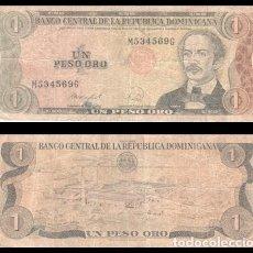 Billetes extranjeros: REPUBLICA DOMINICANA 1 PESO ORO 1988 PIK 126C BC. Lote 195335776
