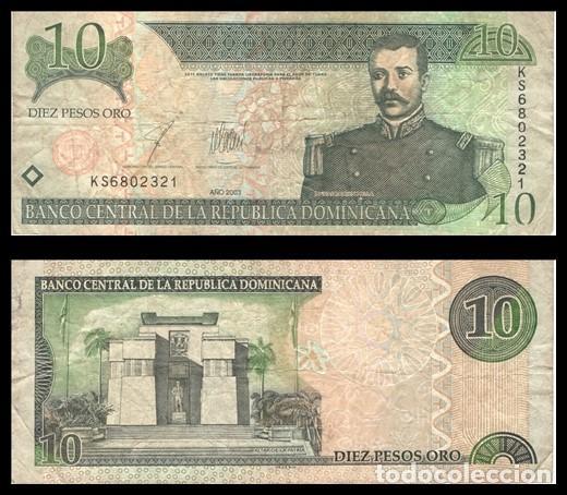 REPUBLICA DOMINICANA 10 PESOS ORO 1988 PIK 168C BC+ (Numismática - Notafilia - Billetes Extranjeros)