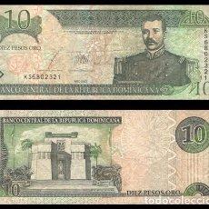 Billetes extranjeros: REPUBLICA DOMINICANA 10 PESOS ORO 1988 PIK 168C BC+. Lote 195336101