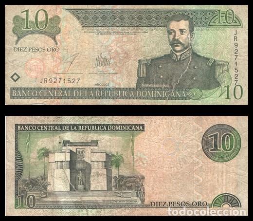 REPUBLICA DOMINICANA 10 PESOS ORO 1988 PIK 168C R/C (Numismática - Notafilia - Billetes Extranjeros)